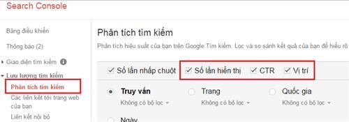 Tham khảo từ Google console
