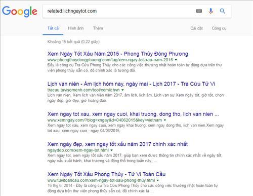 Tìm kiếm các trang có liên quan