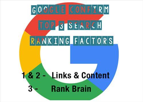 Google xác nhận 3 yếu tố xếp hạng tìm kiếm hàng đầu