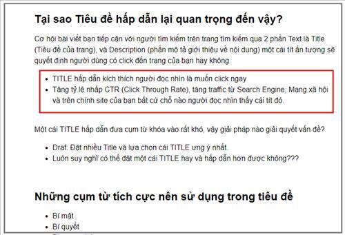100352 su dung bullet trinh bay van ban - Nghệ thuật viếtbài chuẩn SEO đỉnh cao