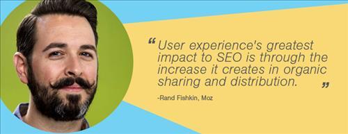 Rand cho rằng UX tác động tốt tới SEO và làm tăng nguồn search organic
