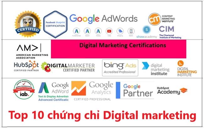 chứng chỉ digital marketing hàng đầu