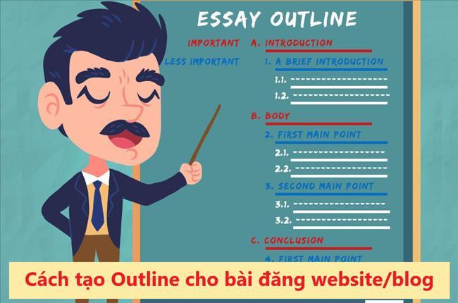 Cách lập dàn ý cho bài viết trên blog/website trong 8 bước đơn giản (Mẫu phác thảo bài đăng)
