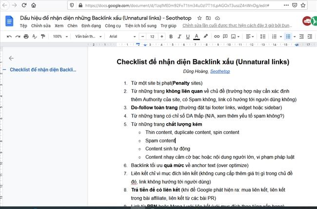 Checklist 19 điểm nhận diện Link xấu