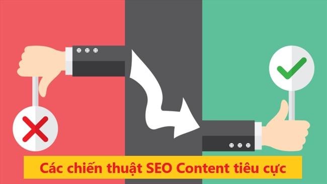 Chiến thuật seo content tiêu cực cần tránh