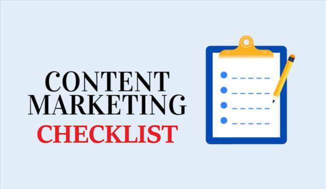 Content Marketing Checklist: Danh sách kiểm tra tiếp thị nội dung hoàn chỉnh