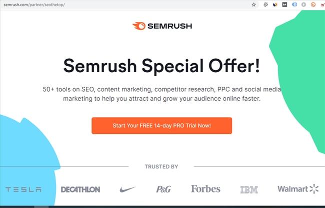 Ưu đãi SEMrush đặc biệt
