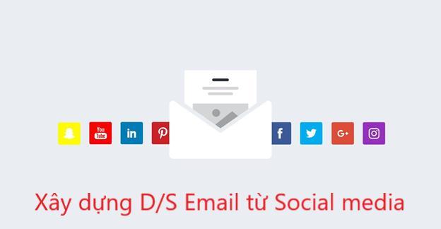 Tạo danh sách email từ Social media