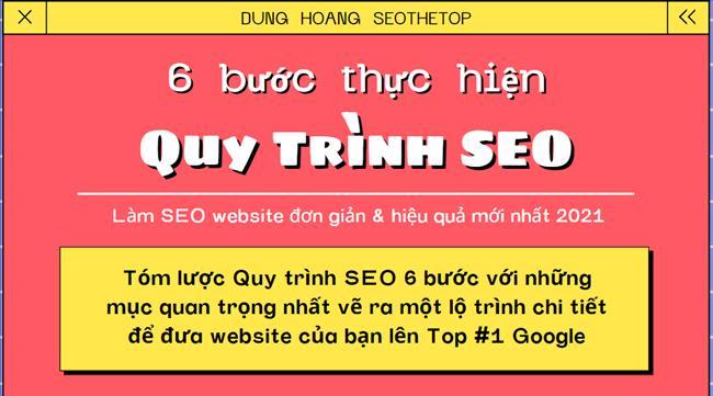 Quy trình SEO website chuẩn 6 bước lên Top Google nhanh và bền vững