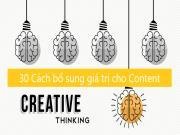 30 Cách Mở rộng Ý tưởng và Bổ sung Giá trị cho bài đăng blog/website của bạn