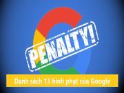Danh sách 13 hình phạt của Google & Cách khôi phục